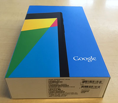 ASUS NEXUS7 16GB WiFi 未開封